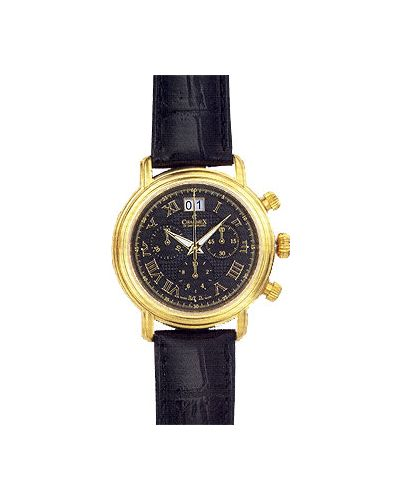 Часы швейцарские серебряный черный Charmex