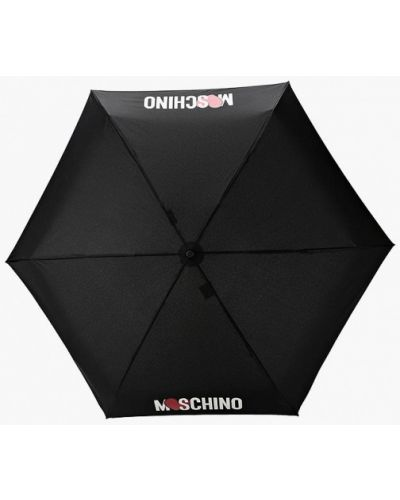 Черный зонт Moschino