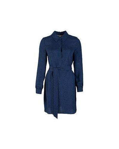 Блузка синяя Diane Von Furstenberg