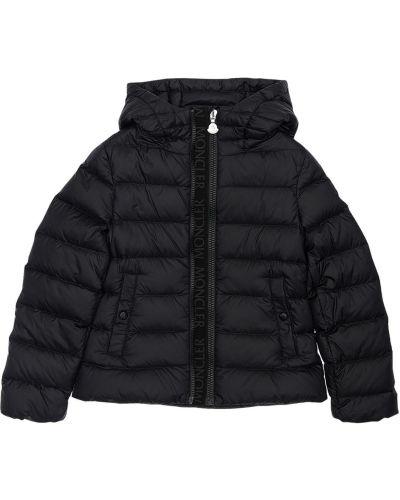 Nylon z rękawami czarny kurtka Moncler