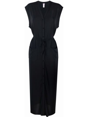 Czarna sukienka z dekoltem w serek Eres