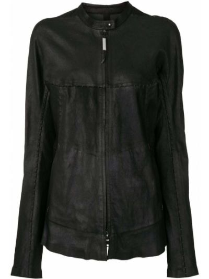 Черная кожаная куртка на молнии Isaac Sellam Experience