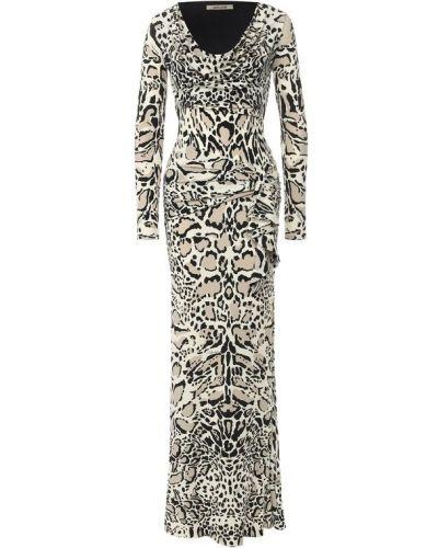 Платье макси приталенное с принтом Roberto Cavalli