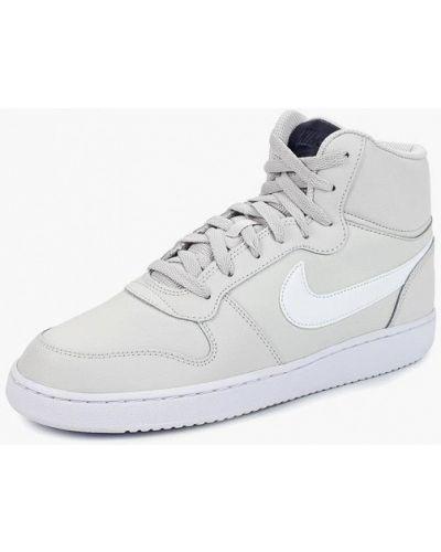 Серые высокие кеды Nike