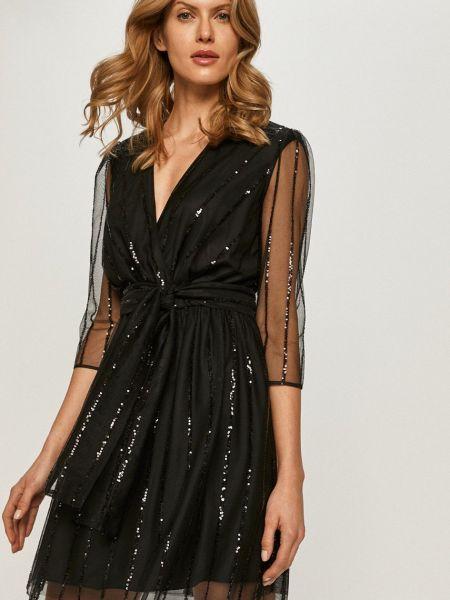 Расклешенное с рукавами платье прозрачное Max&co