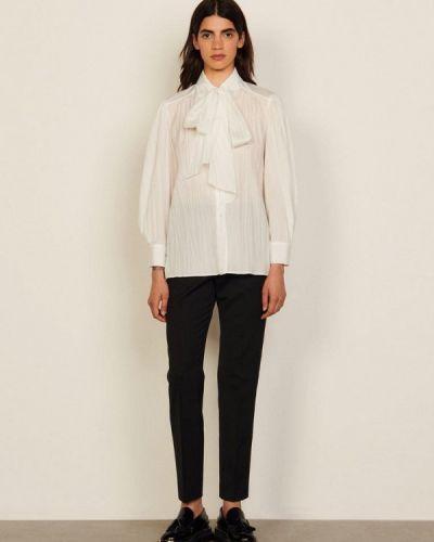 Белая блузка с бантом Sandro