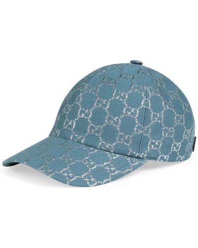 Niebieska czapka z daszkiem Gucci