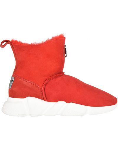 Красные угги замшевые Baldinini