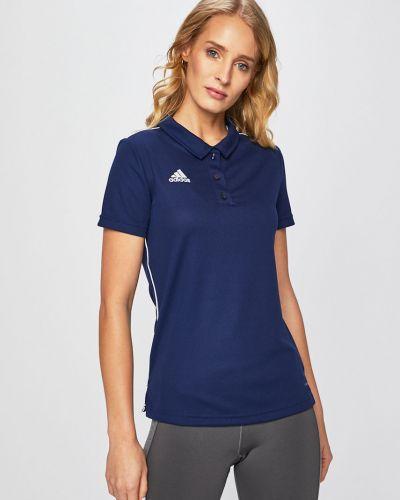 Спортивная футболка синий эластичный Adidas Performance