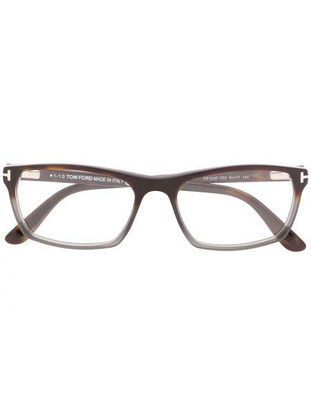 Prosto czarny oprawka do okularów prostokątny Tom Ford Eyewear