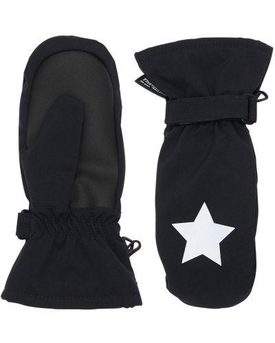 Ciepłe czarne rękawiczki z nylonu Molo