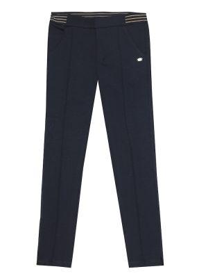 Прямые синие повседневные брюки из вискозы Tartine Et Chocolat
