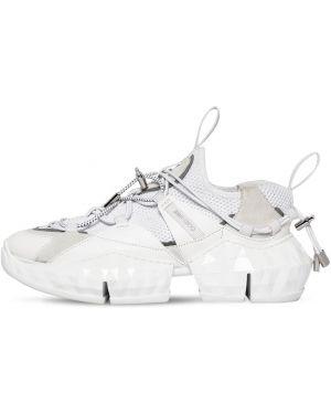 Кожаные кроссовки замшевые с логотипом Jimmy Choo