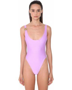 Слитный купальник с декольте - фиолетовый Fausto Puglisi