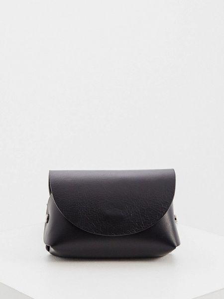 Кожаная сумка поясная черная Max&co