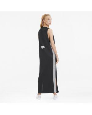 Повседневное черное платье с вырезом Puma