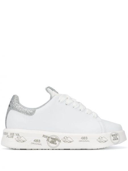 Кожаные кроссовки - белые Premiata