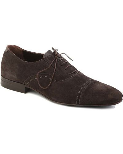 Коричневые туфли замшевые Dino Bigioni