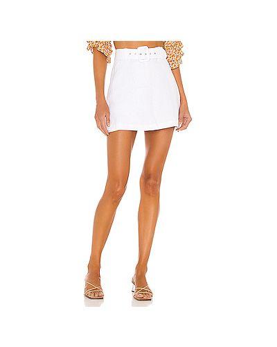 Белая юбка на молнии Faithfull The Brand