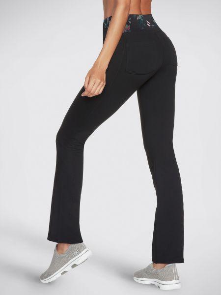Черные спортивные брюки с карманами свободного кроя Skechers