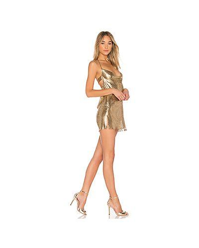 Платье мини с декольте сетчатое H:ours