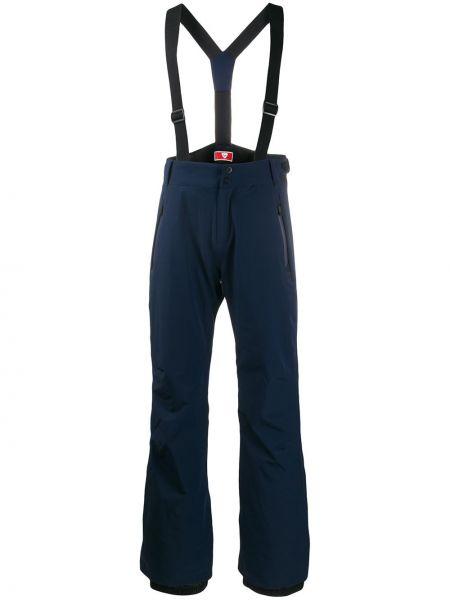 Прямые брюки с карманами на молнии с высокой посадкой новогодние Rossignol