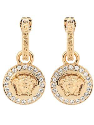 Kolczyki pierścionki kolczyki ze sztyftem złote Versace