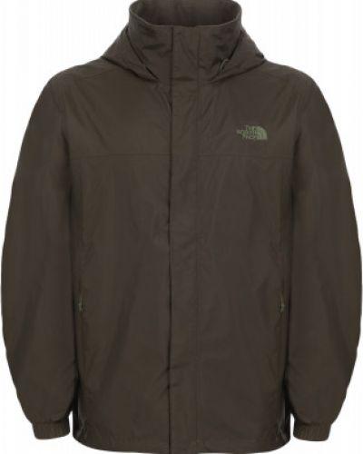 Куртка с капюшоном спортивная зеленая The North Face