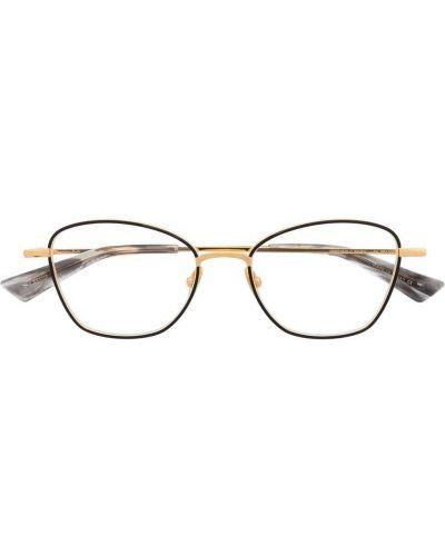 Czarne złote okulary Christian Roth