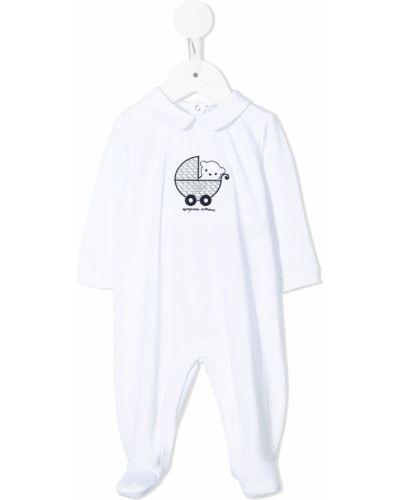 Piżama z długimi rękawami - biała Emporio Armani Kids