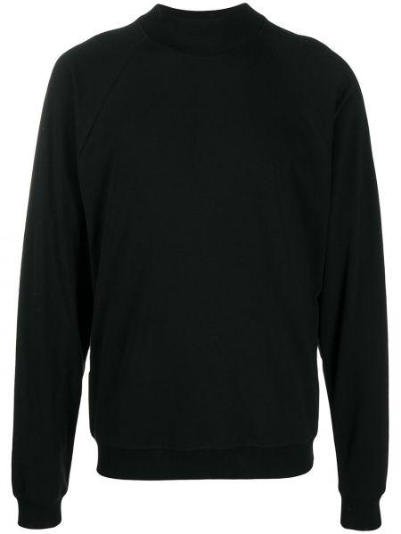 Czarna bluza bawełniana z raglanowymi rękawami Lemaire