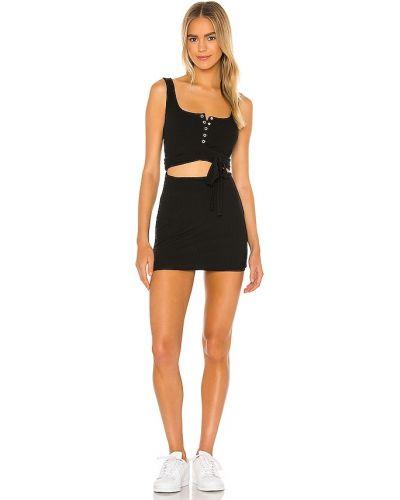 Трикотажное черное платье мини винтажное Privacy Please