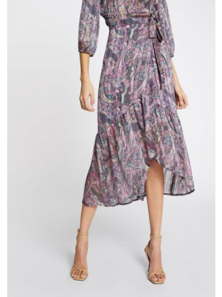 Fioletowa spódnica plisowana Morgan