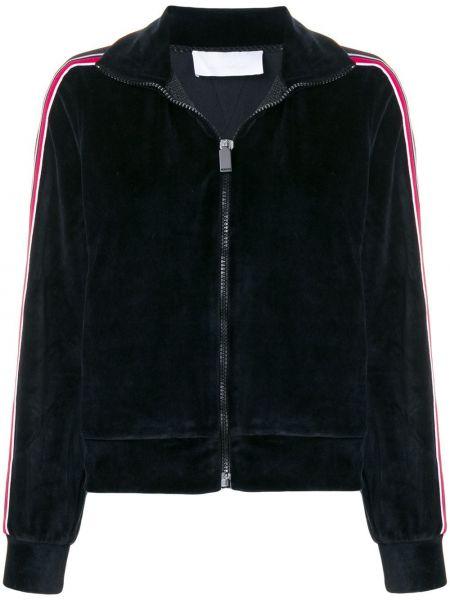 Черная спортивная куртка на молнии с манжетами с воротником No Ka 'oi