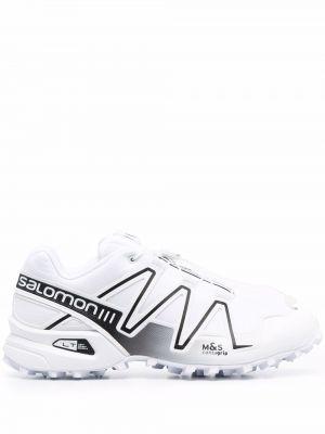 Кроссовки на шнуровке - белые Salomon S/lab