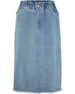 Джинсовая юбка макси Bonprix