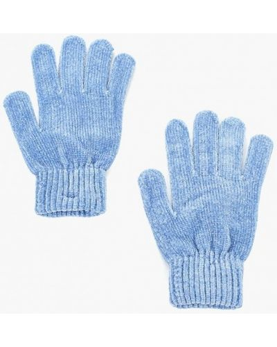 Голубые перчатки текстильные Befree