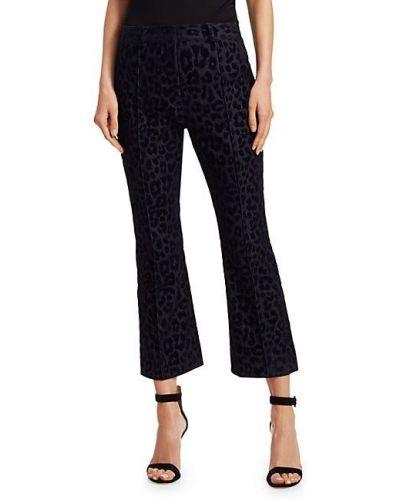 Расклешенные бархатные укороченные брюки с поясом Derek Lam