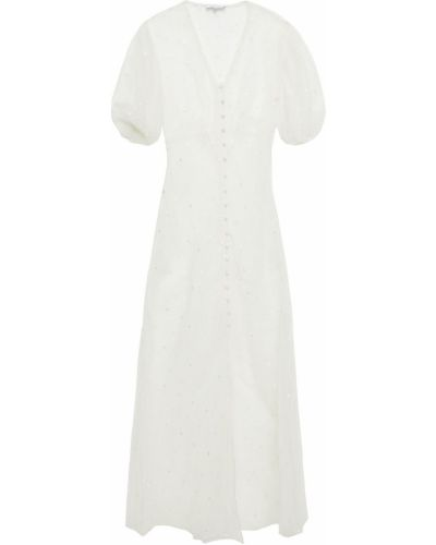 Шелковое платье макси - белое Olivia Von Halle