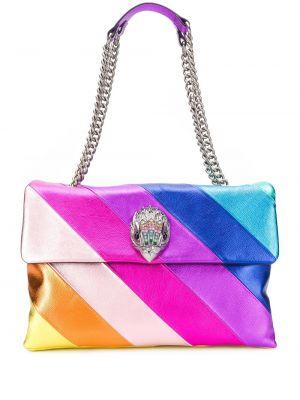 С ремешком розовая сумка на цепочке из натуральной кожи Kurt Geiger London