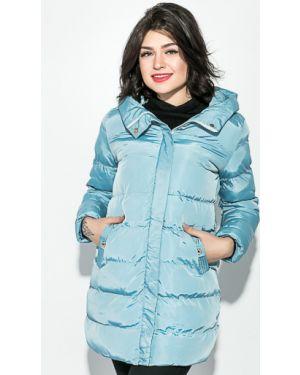 Прямая длинная куртка на синтепоне мятная Time Of Style