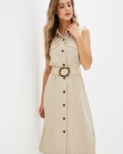 Платье - бежевое Warehouse