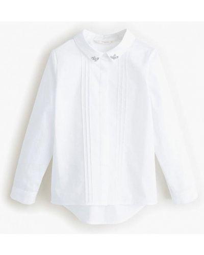 Белая блуза Mango Kids