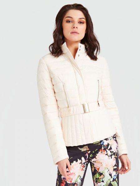 Pikowana kurtka z suwakiem włókienniczy Guess