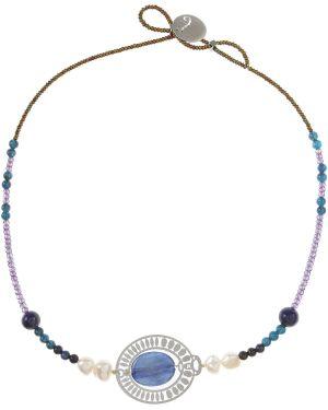 Niebieski naszyjnik srebrny Ziio