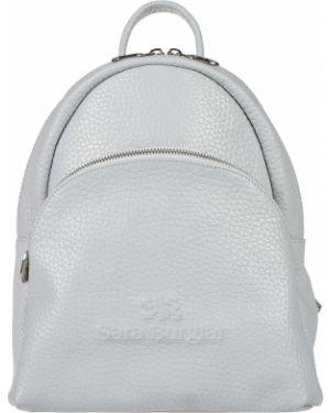 Кожаный рюкзак - голубой Sara Burglar