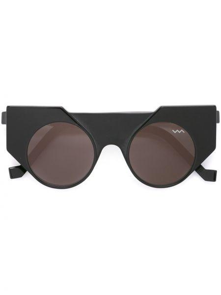 Солнцезащитные очки кошачий глаз черные Vava