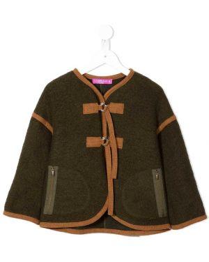 Зеленое длинное пальто Valmax Kids