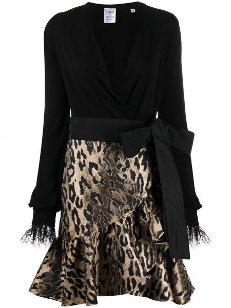 Ажурное платье с запахом с V-образным вырезом с бантом Sara Roka