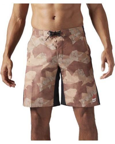 Спортивные шорты для полных коричневый Reebok